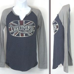 Lucky Brand Triumph Motorcycle Shirt Thermal 3804X